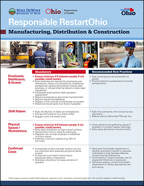 Responsible RestartOhio Employees, Distributors,