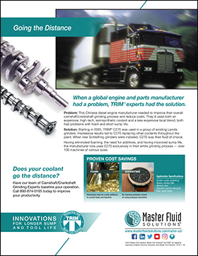 Going the distance: Chinese Diesel Engine Manufacturer Improved Sump Life www.masterfluidsolutions.com/na/en-us/