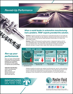 Revved-up Performance: Global Automotive Crankshaft Manufacturer Saves Coolant Costs www.masterfluidsolutions.com/na/en-us/