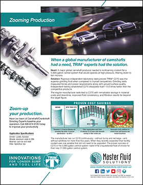 Zooming Production: Global Camshaft Producer Reduces Filter Media by over 98%